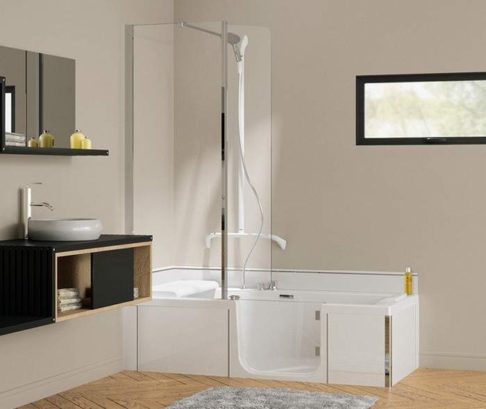 en vente kineduo 180x80 baignoire douche 2 en 1 kinedo. Black Bedroom Furniture Sets. Home Design Ideas