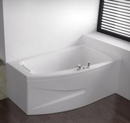 en vente tendance160x90 detente baignoire baln o kinedo pure design asym trique 160x90 d tente. Black Bedroom Furniture Sets. Home Design Ideas