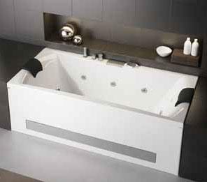 En vente pure design 190x90 vitalit baignoire double t tes baln o kined - Marque baignoire balneo ...