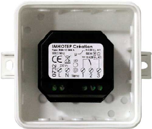 RECEPTEUR THERMOSTAT RADIO Imhotep IMHC